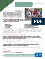 Adhd Fact Sheet Cdc