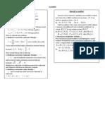 Noţiuni teoretice matematica