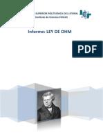 Informe Practica Ley de Ohm