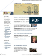 CIU Alumni E-News August 2009