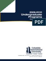 CIU Undergraduate Catalog 2009-2010