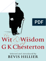 Wit and Wisdom of G K Chesterton