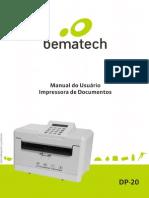 Impressora de Cheque DP-20 Manual 01 Manual Do Usuario