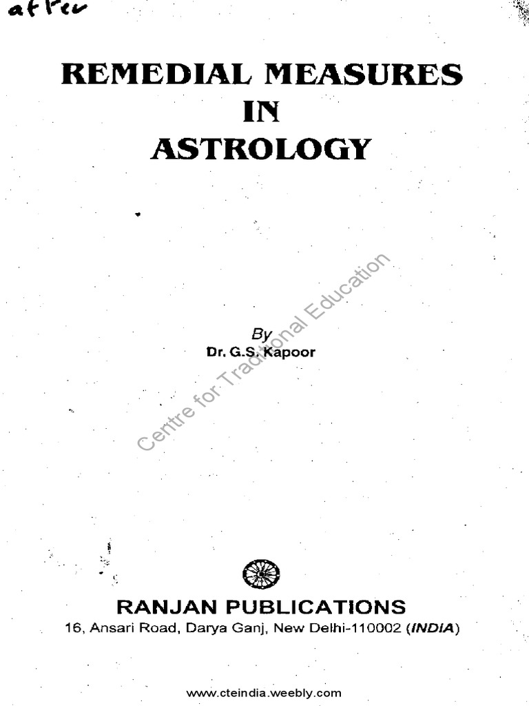 Remedial Measures in Astrology by G S Kapoor   Planets In ...
