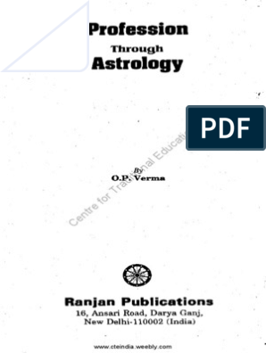 Profession Through Astrology by O P Verma | Planets In