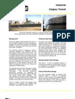 SolarWall Case Study - Calgary Transit (solar air heater system)