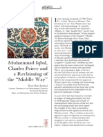 "(5) Muhammad Iqbal, Charles Peirce and a Reclaiming of the ""Middle Way"" - Basit Bilal Koshul"