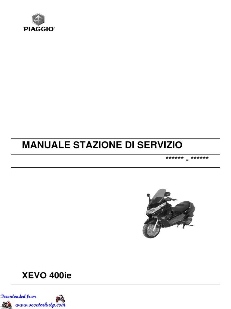 Piaggio Xevo 400 Workshop Manual