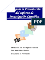 Guia Para La Presentacion de Un Informe Final de Investigacion
