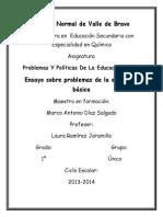 ENSAYO MED SOBRE PROBLEMAS DE LA EDUCACION BASICA.docx