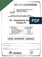 Prova Assistente Social Classe r 80q