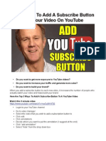 How to Add a Subscribe Button to Your YouTube Video in Less Than 3 Minutes