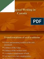 Aboriginal Writing in Canada