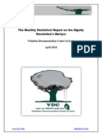 The Monthly Statistical Report on the Dignity Revolution's Martyrs April 2014