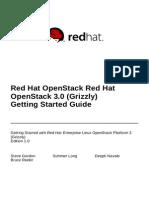 Red Hat OpenStack 3 Getting Started Guide en US