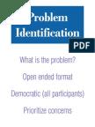 2. Problem Identification Summary