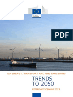 EU Energy, Transport and GHG Emissions Trends to 2050, Reference Scenario 2013.