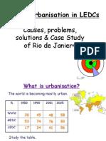 Rural Urban migration in LEDCs