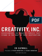 Creativity, Inc. By Ed Catmull