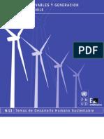 Energias Renovables y Generacion Eléctrica en Chile