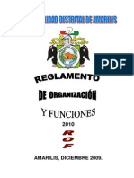 Reglamento de Organización y Funciones) 2011 Amarilis