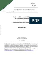 Métodos Para El Riesgo Microeconómico y Vulnerabilidad