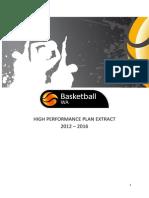 Basketball WA High Performance Plan-Extract