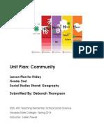 EDEL453 Spring2014 DThompson Unit-plan FRIDAY