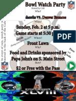 Assignment3 Super Bowl Flyer