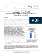 Teaching for a New World