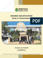1 Regenesys Business Qualification Abroad