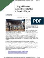 250 Quakes in 7 Days