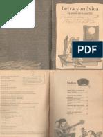 Letra y Música - La Poesía en La Canción (Ed. La Estación)