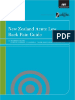 New Zealand Acute Low Back Pain Guideline