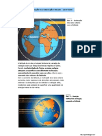 Variação da radiação solar - latitude (10.º) (1)