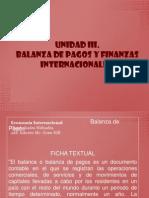 La Balanza de Pago y Las Finanzas Internacionales