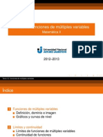 10 Funciones de Multiples Variables Presentacion
