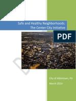 Safe and Healthy Neighborhoods