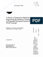 A STUDY TO DETERMINE METHODS OF IMPROVING THE SUBSONIC PERFORMANCE OF A PROPOSED PERSONNEL LAUNCH SYSTEM (PLS) CONCEPT