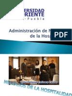 Administración de Negocios de La Hospitalidad
