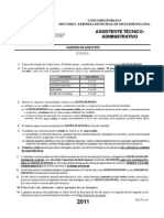 09 Assistente Tec Administrativo Multirio2011