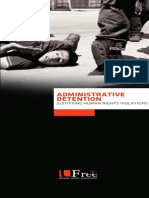 Administrative Detention... Justifying Human Rights Violations report