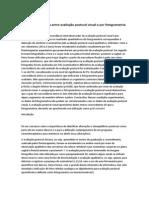 Analise Comparativa Entre Avaliação Postural Visual e Por Fotogrametria Computadorizada
