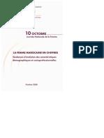 La Femme Marocaine en Chiffres- Tendances d'Évolution Des Caractéristiques Démographiques Et Socioprofessionnelles (2008)