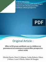 Jurnal B Lactam - Pneumococcal Resistency of Penicillin