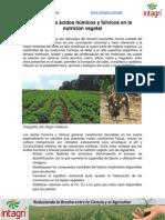 Uso de Los Acidos Húmicos y Fulvicos en La Nutricion Vegetal
