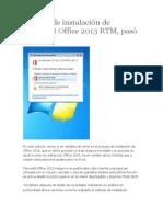 Proceso de Instalación de Microsoft Office 2013