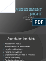 assessment  night