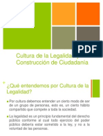 Cultura de La Legalidad