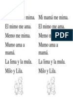 Lectura Fonema M